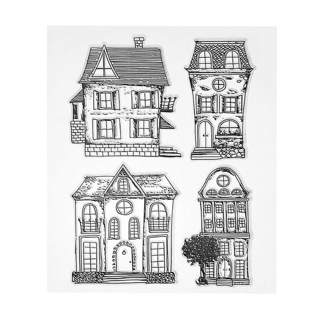 Houses Clear Silicone Stamps
