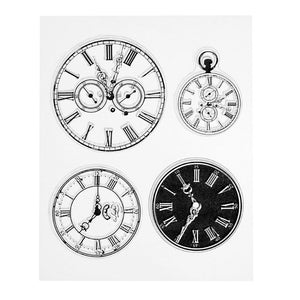 Vintage Clockfaces Clear Silicone Stamps
