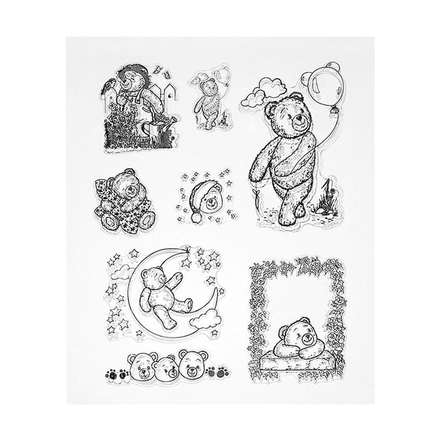 Cute Bears Clear Silicone Stamps