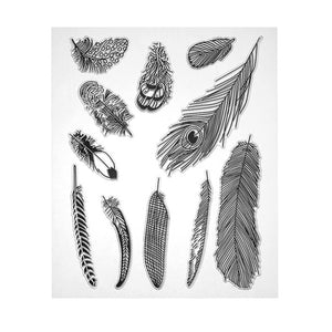 Feathers Clear Silicone Stamps