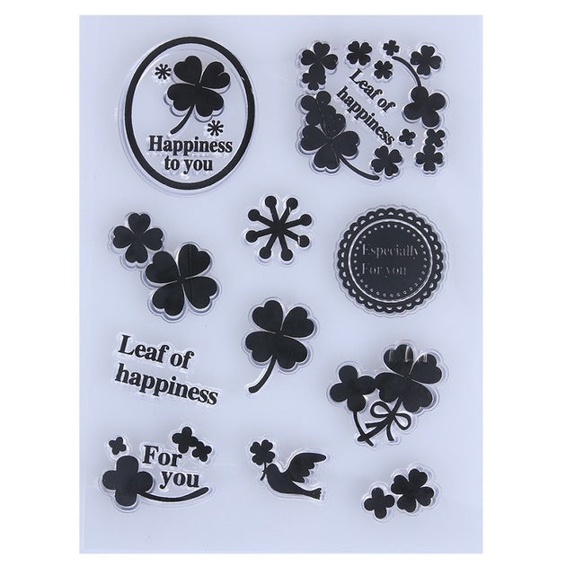 Lucky Clovers Clear Silicone Stamps
