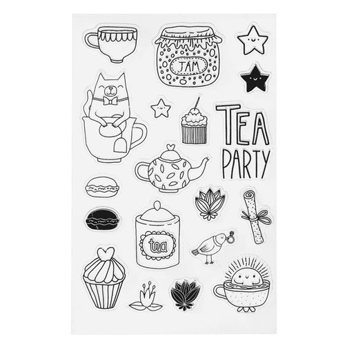 Tea Party Clear Silicone Stamps