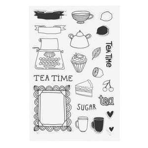 Tea Time Clear Silicone Stamps