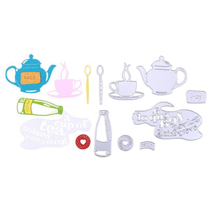 Tea Set themed die set