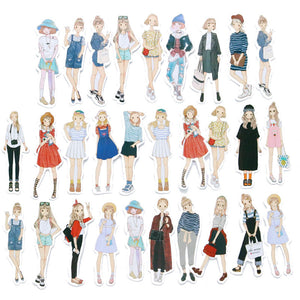 29 pcs Fashion girls stickers