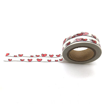 double hearts string washi tape