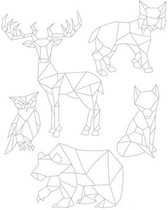 Geometric Animals Clear Silicone Stamps