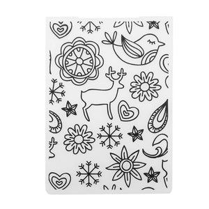 Bird Deer Embossing Folder