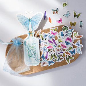 100pcs Butterfly Stickers
