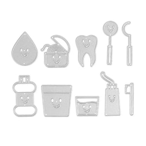 tooth themed 10 pcs die set