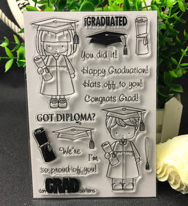 Graduation Themed Clear Silicone Stamps