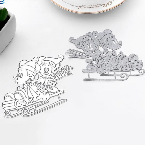 Mickey and Minnie Mouse Sledging die