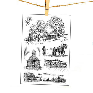 Farm themed clear silicone stamps