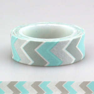 Blue and Grey Chevron Washi Tape