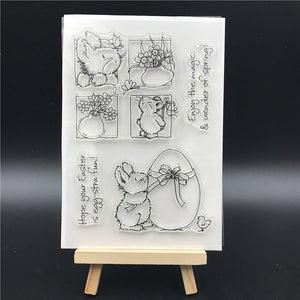 Easter Rabbit Clear Silicone Stamps