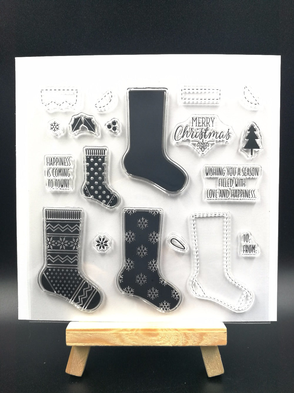 Christmas Socks Clear Silicone Stamps
