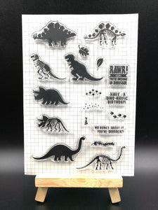 Dinosaur Clear Silicone Stamps