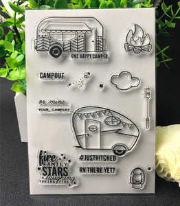 Camping Themed Clear Silicone Stamps