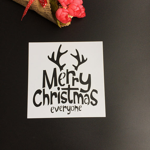 Merry Christmas Everyone Stencil