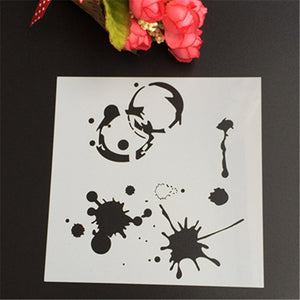 Paint Splatter Stencil