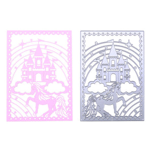 Fairytale Castle with Frame and Unicorn Die