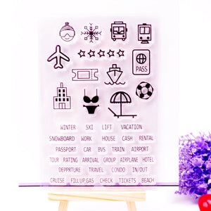 Holiday themed clear silicone stamps