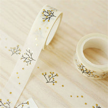 Gold or Silver foiled tree washi tape