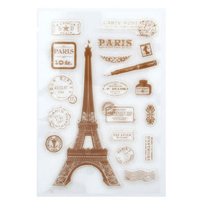 Paris themed silicone stamps