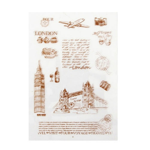 London Landmarks Clear Silicone Stamps