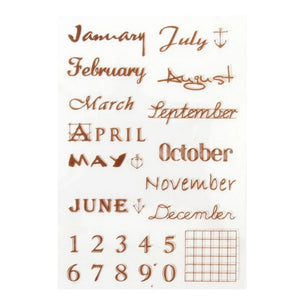 months clear silicone stamps