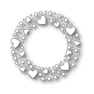 Heart Sprinkle Wreath Die