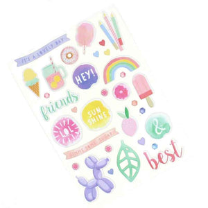 Summer Party Puffy Stickers