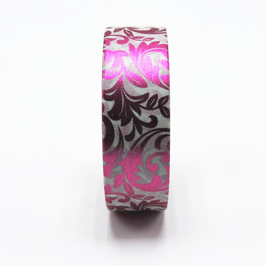 Purple foiled leaves washi tape