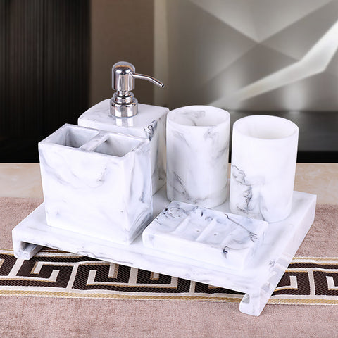 Resin Marble Bathroom Accessories