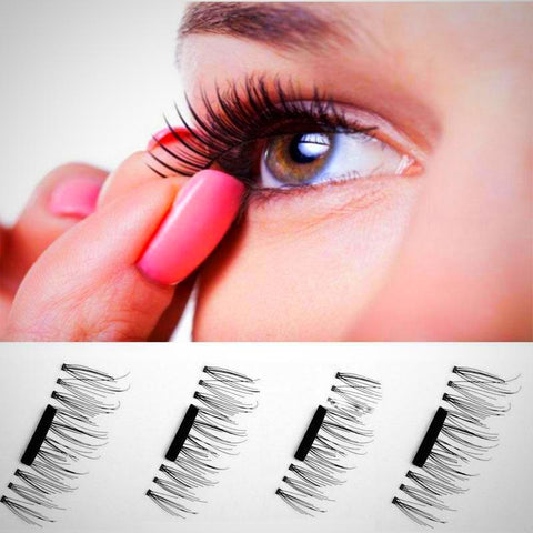 Full Size Dual Magnetic False Eyelashes Set (4 pieces)