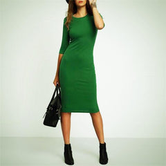Casual Crew Neck Dress