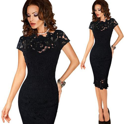 Elegant Crochet Evening Dress