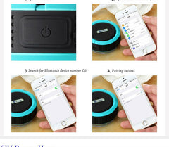 Portable Waterproof Wireless Car Bluetooth Speaker