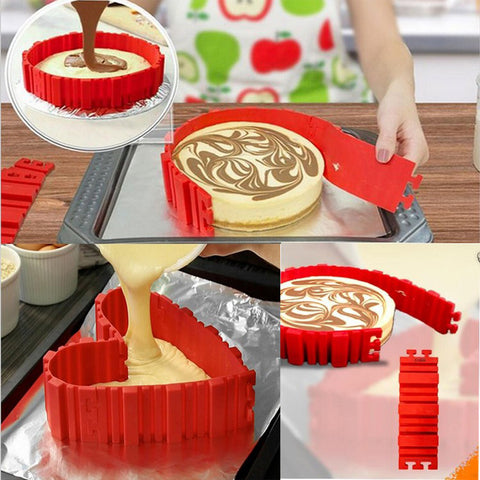 4 Pcs/set Silicone bakeware Magic Snake cake mold DIY Baking