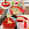 Image of 4 Pcs/set Silicone bakeware Magic Snake cake mold DIY Baking