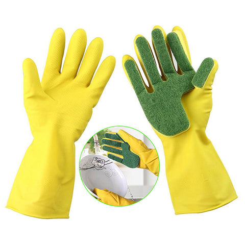 Cleaning Gloves with Sponge