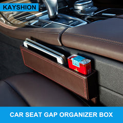 Leather Car Seat Gap Organizer