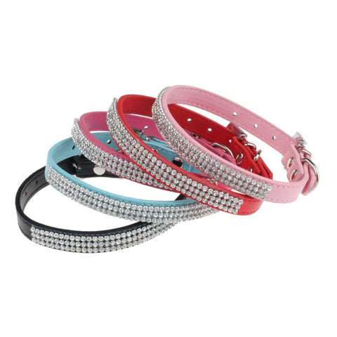 Fashionable Dog Collar with Rhinestones