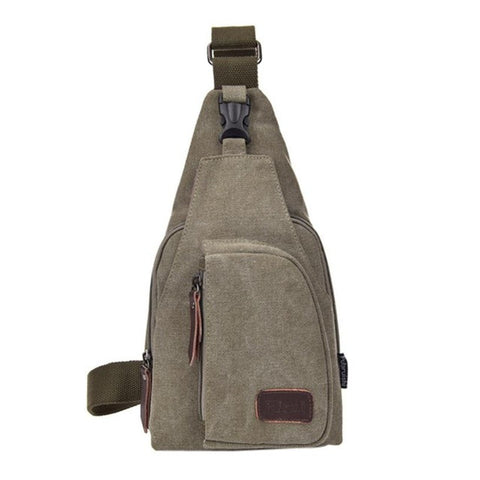 Retro Canvas Messenger Bag