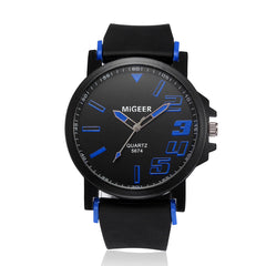Men's Fashion Silicone Strap Analog Watch
