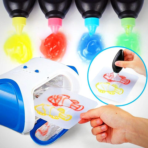 DIY 3D Magic Machine Printer Enlighten Painting Draw Kids