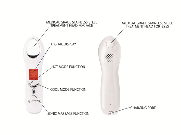 Hot and Cold Facial Infuser - For Face and Eyes - Lumina NRG - luminanrg