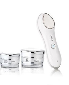 Brightening Vitamin C- 2 Piece Set + Anti aging Hot & Cold Ultrasonic Cream Infuser - luminanrg