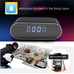 HD 1080P Wifi Secret Home Camera - Nanny Cam Alarm Clock Night Vision/Motion Detection