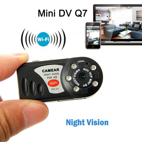 Mini WiFi 720p Hi-Def Camera , Wireless Secret Video Camera With Infrared Night Vision & Recording DVR -  Wireless DVR - Andriod - iPhone